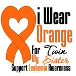 Leukemia I Wear Orange For My Twin Sister Shirts