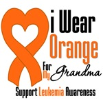 Leukemia I Wear Orange For My Grandma Shirts