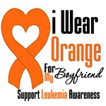 Leukemia I Wear Orange For My Boyfriend Shirts
