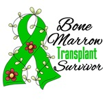 Bone Marrow Transplant Survivor Flower Shirts