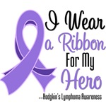 I Wear a  Ribbon For My Hero Hodgkin's Lymphoma
