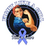 Rosie The Riveter Fight Like a Girl Stomach Cancer