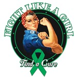 Rosie Riveter Fight Like a Girl Liver Cancer Shirt
