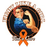 Rosie Riveter Fight Like a Girl Leukemia Shirts