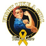 Rosie Riveter Fight Like a Girl Childhood Cancer