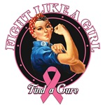 Rosie The Riveter Fight Like a Girl Breast Cancer