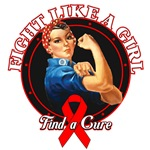 Rosie Riveter Fight Like a Girl Blood Cancer Shirt