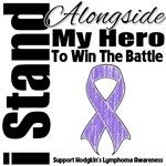 I Stand Alongside My Hero Hodgkin's Lymphoma Shirt