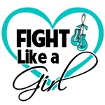 Fight Like a Girl Heart - Ovarian Cancer Shirts