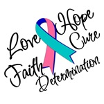 Thyroid Cancer Love Hope Faith Shirts