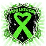 Fight Like a Girl Shield Ribbon Lymphoma Shirts