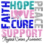 Collage Hope Cure Thyroid Cancer Shirts