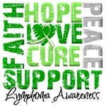 Collage Hope Cure Lymphoma Shirts