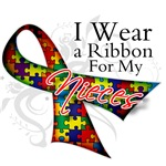 For My Nieces Autism Ribbon Shirts and Gifts