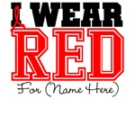 Custom I Wear Red Blood Cancer Shirts