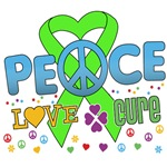 Peace Love Cure Lymphoma Shirts and Gifts