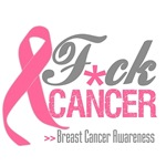 Fuck Breast Cancer Pink Ribbon Shirts