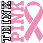 Think Pink Breast Cancer Shirts and Gifts
