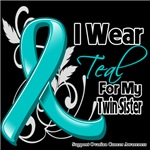 I Wear Teal For My Twin Sister Ovarian Cancer Shir