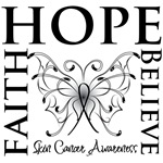 Faith Hope Believe Skin Cancer Shirts