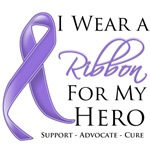 Hodgkin's Disease I Wear a Ribbon For My Hero Shir