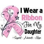 Daughter Pink Ribbon Breast Cancer Shirts
