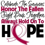 Throat Cancer Celebrate Honor Fight Hope Shirts