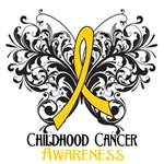 Butterfly Floral Childhood Cancer Shirts and Gifts