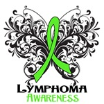 Butterfly Floral Lymphoma Shirts and Gifts