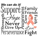 Uterine Cancer Supportive Words Shirts and Gifts