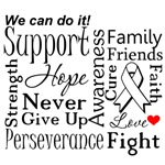 Retinoblastoma Cancer Supportive Words Shirts