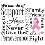 Breast Cancer Supportive Words Shirts and Gifts