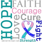 Hope Faith Courage Thyroid Cancer Shirts