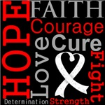 Hope Faith Courage Retinoblastoma Shirts