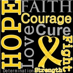 Hope Faith Courage Neuroblastoma Shirts