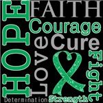 Hope Faith Courage Liver Cancer Shirts