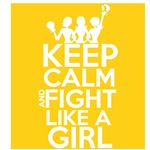 Childhood Cancer Keep Calm and Fight Like a Girl 