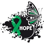Hope Grunge Butterfly Liver Cancer Shirts