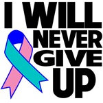 I Will Never Give Up Thyroid Cancer Shirts