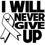 I Will Never Give Up Retinoblastoma Cancer Shirts