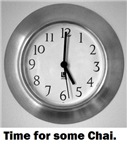 time for some chai clock