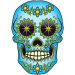 Sugar Skull Blue Floral