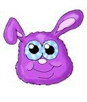 Purple Bunny Head