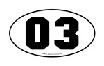Numbers - Euro Oval Number Stickers