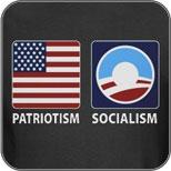 Patriotism or Socialism - Anti Obama T-Shirts