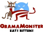 Obama Monster Eats Kittens