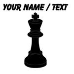 Custom Black Chess King