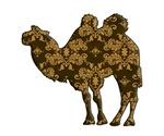Camel silhouette Damask
