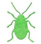 Flea Beetle Tree Silhouette
