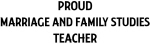 MARRIAGE AND FAMILY STUDIES teacher